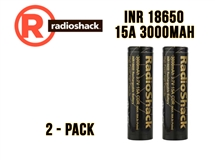 Radio Shack INR 18650 - 15Amp - 3000mAh (Flat Top)