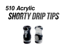 510 Acrylic Shorty Drip Tips