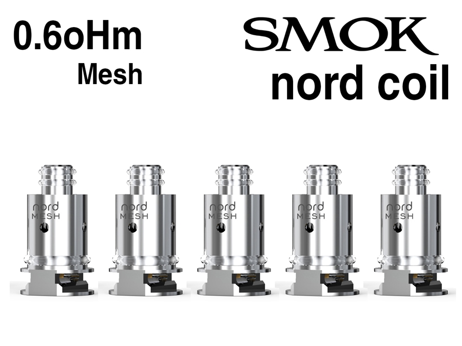 Smok Nord 0 6oHm Mesh Coils - 5 Pack