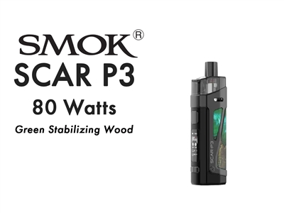 Smok Scar P3 Green Stabilizing Wood