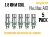 Nautilus Nicotine Salt Replacement Coils 1.8ohm
