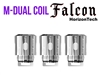 Horizon Falcon M-Dual Coil - 0.38oHm 3 Pack
