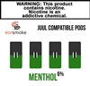 Eon Smoke Juul Compatible Pods - Menthol (6%)