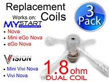 Vision ViVi Nova and Mini Replacement Coil 1.8ohm  Electronic Cigarette  in Charleston South Carolina
