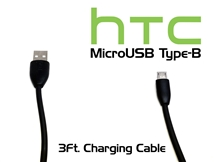HTC - MicroUSB Type-B - 3Ft Charging Cable