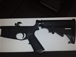 AR15 complete lower, aluminum, multi cal, 6-pos mil-spec stock