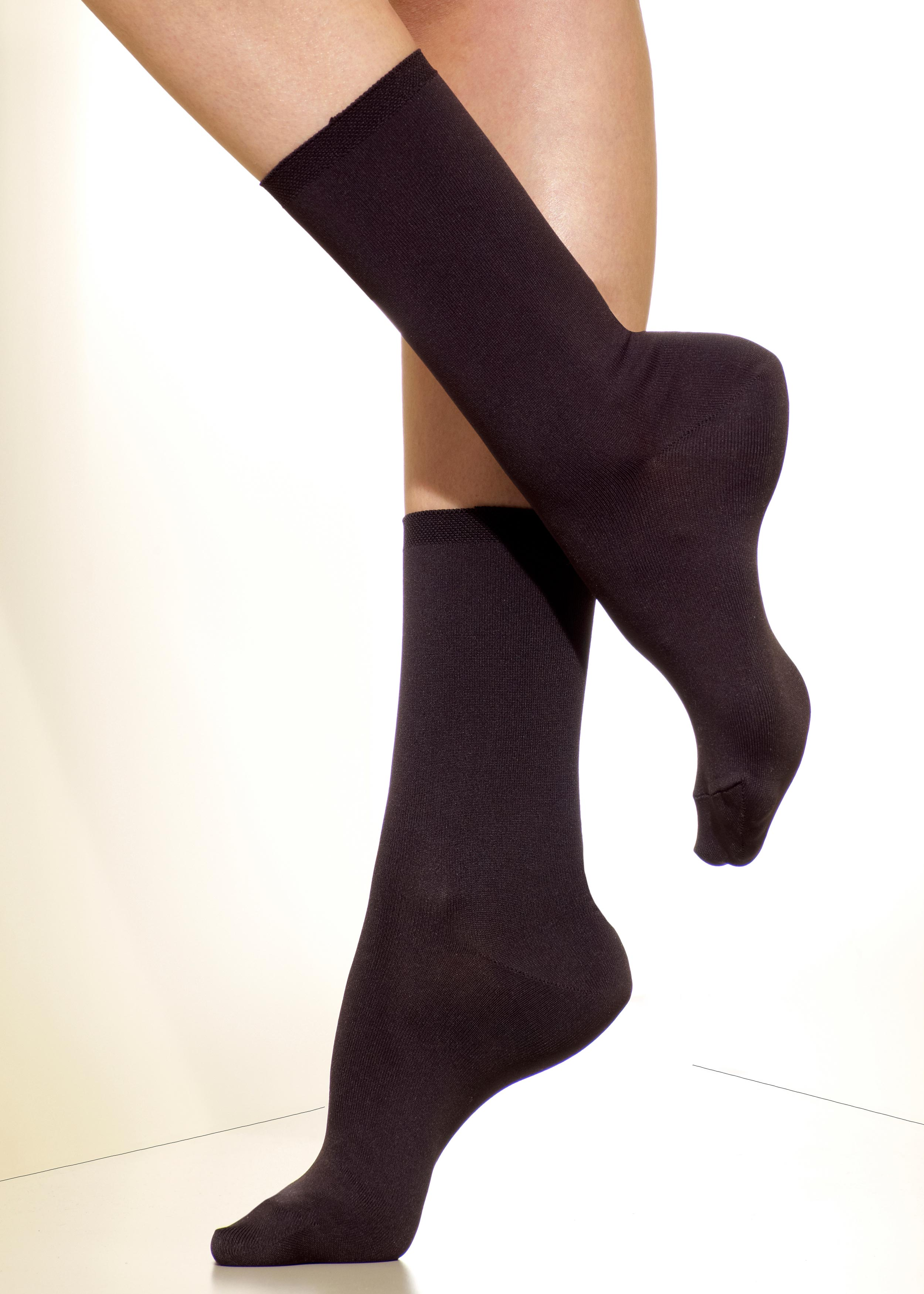 d5a0df802 Silkies Microfiber Crew Socks (Matte Finish) | Four Fashion Shades ...