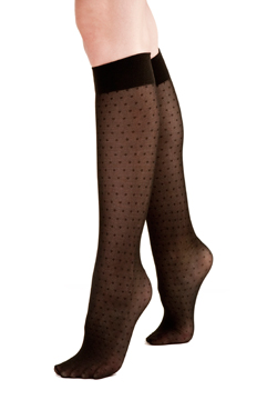 Silkies Mesh Dot Trouser Socks