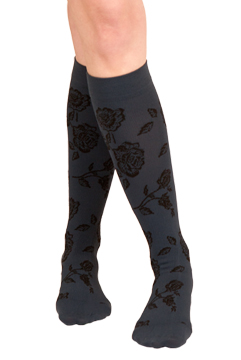 Silkies Compression Floral Trouser Socks (15-20 mmHg)