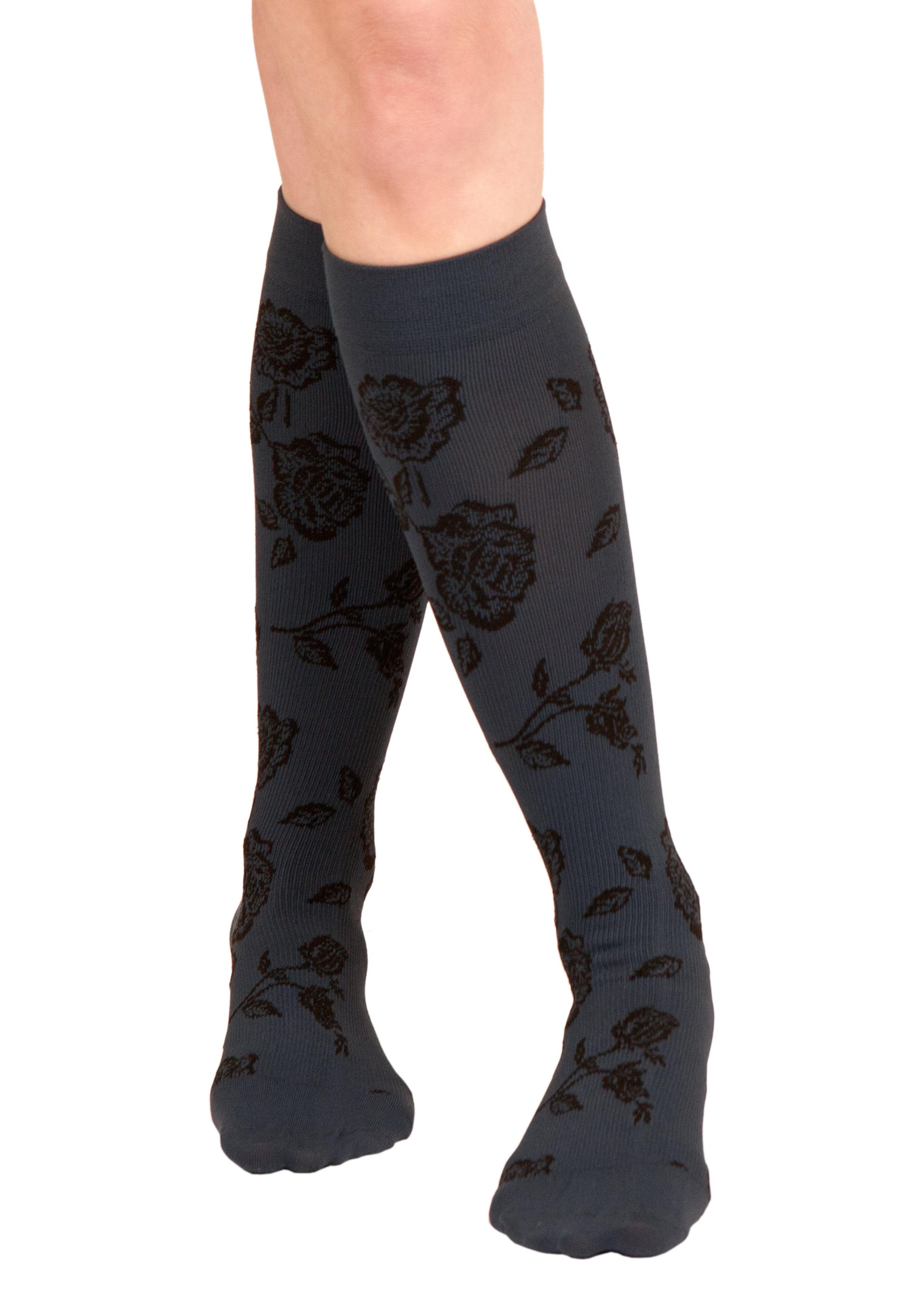 824d525ac Silkies Compression Floral Trouser Socks (15-20 mmHg)