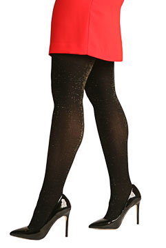 Silkies Gold Sparkle Tights - Plus Size