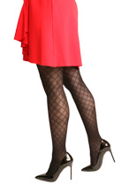 Silkies Diamond Mesh Control Top Tights