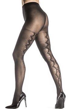 Zac Posen Fancy Back Seam Tights