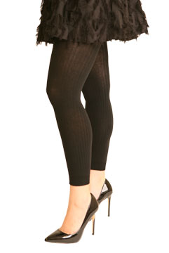 Ribbed Footless Sweater Tights