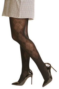 Argyle Side Panel Tights