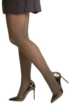 Heather Herringbone Tights