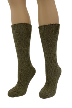 Fleck Cotton Crew Socks