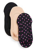 Pin Dots Fine Edge Shoe Liner - 3 Pair Pack