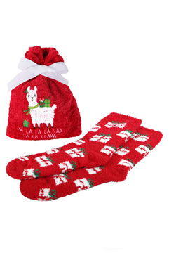 FALALA Llama Cozy Sock and Gift Bag Set