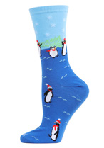 Penguins Holiday Crew Socks