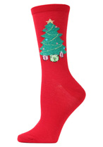 Christmas Tree Crew Socks
