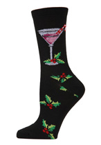 Christmas Drinks Crew Socks