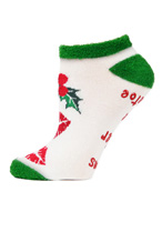 Mistletoe Low Cut Non-Skid Socks