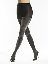 Liquid Metallic Opaque Tights