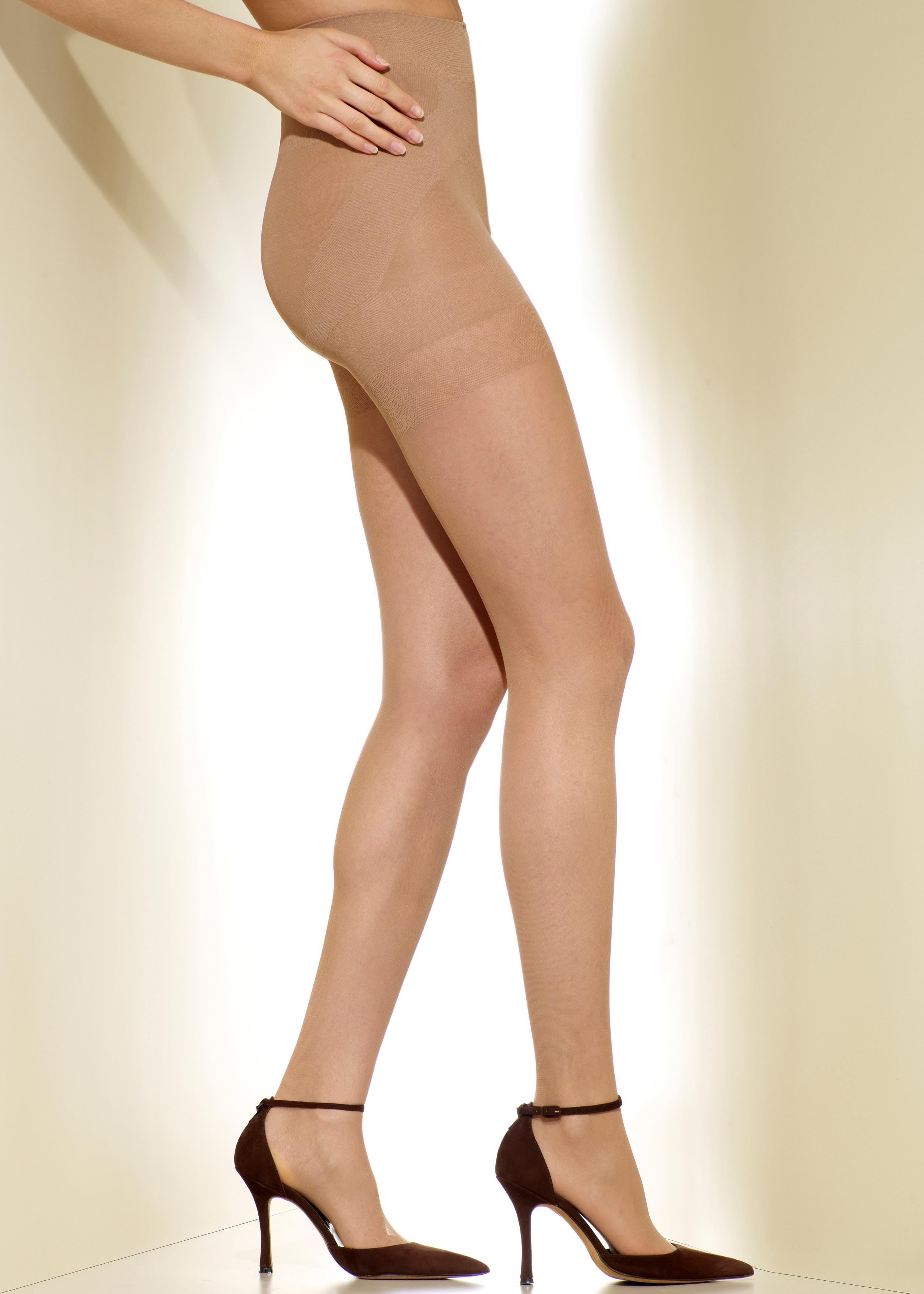 Toe Pantyhose Lined Sheer 22