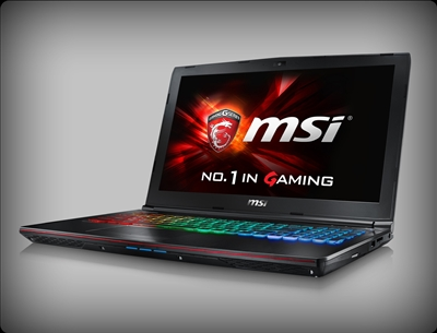 MSI GE62 Apache 264 nVidia GTX 1050, 7th Gen Intel Core i7