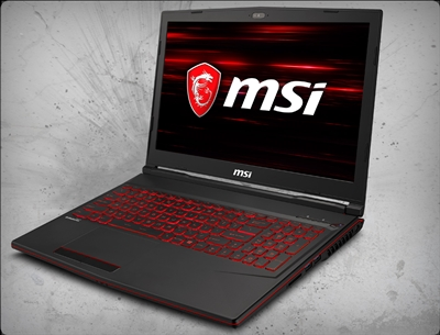 MSI GL63 8SE-209 nVidia RTX 2060 GPU 6GB GDDR6, 8th Gen Intel Core i5