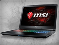 MSI GP72X Leopard Pro-622 nVidia GTX 1050Ti, 7th Gen Intel Core i7