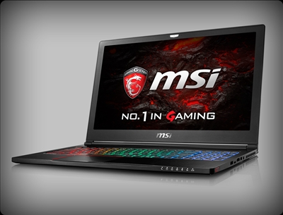 MSI GS63VR Stealth Pro-230 nVidia Pascal GTX 1060, 7th Gen Intel Core i7 Kaby Lake