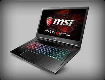 MSI GS73VR Stealth Pro 4K-223 4K Screen, nVidia Pascal GTX 1060, 120Hz 94% NTSC, 7th Gen Intel Core i7
