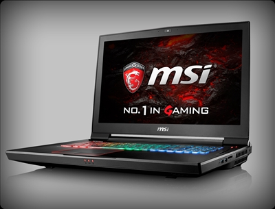 MSI GT73VR TITAN Pro 425 with nVidia Pascal GTX 1080, 7th Gen Intel Kaby Lake Core i7-7820HK