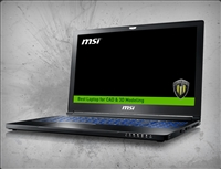 MSI WS63 7RK-290US nVidia Quadro P3000 6GB GDDR5, 7th Gen Intel Core i7