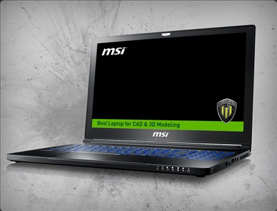 MSI WS63 8SK-017 nVidia Quadro P3200 6GB GDDR5, 8th Gen Intel Core i7