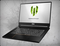 MSI WS65 9TM-856 4K nVidia Quadro RTX 5000 GPU 16GB GDDR6, 9th Gen Intel Core i7-9750H
