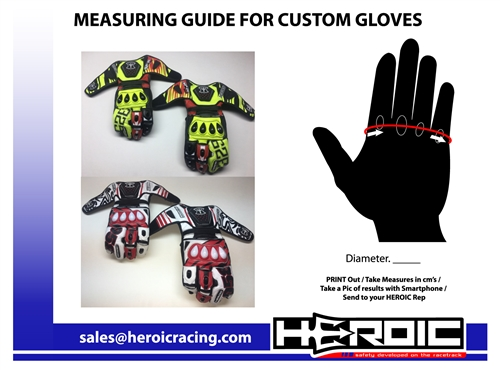 The HEROIC SP-R PRO is hands down the best road racing glove on the market. Get your custom design!