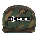 HEROIC Snap Back Hat - Green Camo