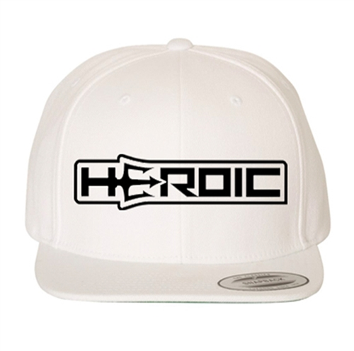 HEROIC Snap Back Hat - White