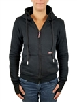 80% Cotton 20% Poly; Shoulder, Elbow and Back Protection; Fully Kevlar lined - GET YOUR HOOD ON, LADY...