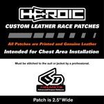 HEROIC Printed Leather Patch - 6D