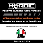 HEROIC Printed Leather Patch - AGV