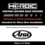 HEROIC Printed Leather Patch - ARAI