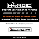 HEROIC Printed Leather Patch - Bridgestone