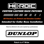 HEROIC Printed Leather Patch - Dunlop