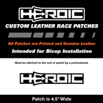 HEROIC Printed Leather Patch - HEROIC Logo Black
