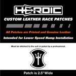 HEROIC Printed Leather Patch - HEROIC Trident Blk