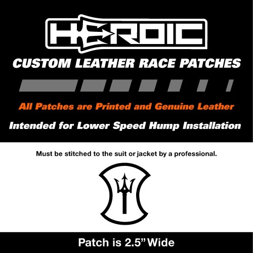 HEROIC Printed Leather Patch - HEROIC Trident White